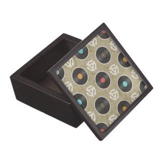 Rows of Records Pattern Premium Keepsake Boxes