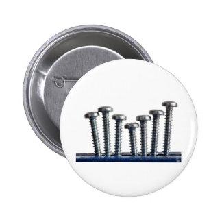 Rows of screws pin