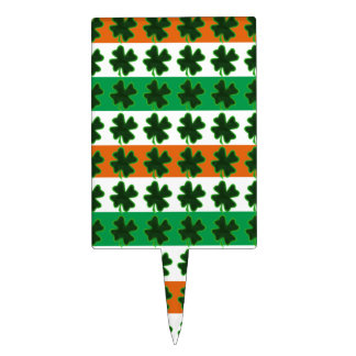 Rows of Shamrocks for St Patrick's Day Cake Toppers