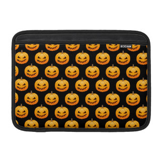 Rows of Spooky Halloween Pumpkins MacBook Sleeve