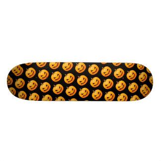 Rows of Spooky Halloween Pumpkins Skate Deck