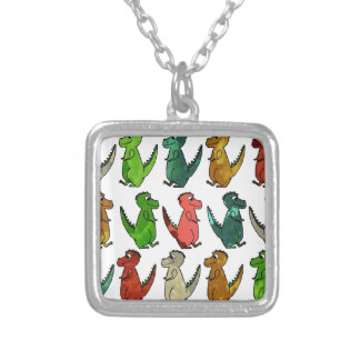 Rows of T-Rex Necklace