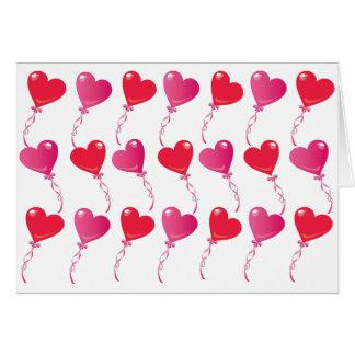 Rows & Rows of Heart Balloons Card