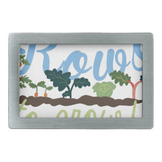 Rows to Grow Belt Buckle