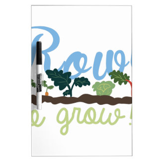 Rows to Grow Dry Erase Board