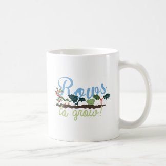 Rows to Grow Classic White Coffee Mug