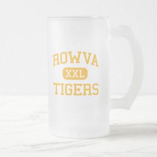ROWVA - Tigres - joven - Oneida Illinois Taza Cristal Mate