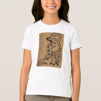 Roxanne And Baby Hilda, Paper Bag Art T-Shirt