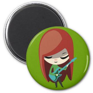 Roxie Rockstar 2 Inch Round Magnet