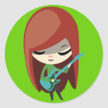 Roxie Rockstar Etiqueta Redonda