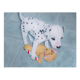 Roxie the Dalmatian Pup Postcard
