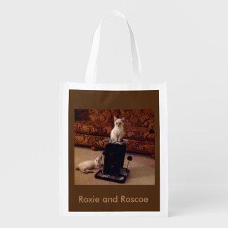 Roxie y bolso reutilizable de Roscoe Bolsa De La Compra