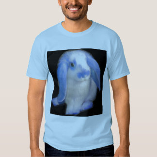 Roxy el conejo en azul poleras