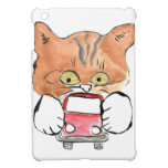Roxy Kitty Grabs a Little Red Car iPad Mini Cover