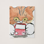 Roxy Kitty Grabs a Little Red Car Jigsaw Puzzle