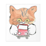 Roxy Kitty Grabs a Little Red Car Memo Note Pad