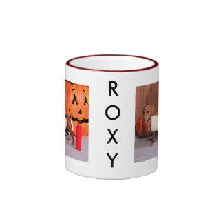 Roxy - Mini Dachshund - Elliott Ringer Coffee Mug