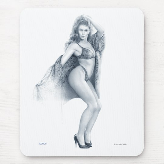 """ROXY""  Pinup girl mouse pad"