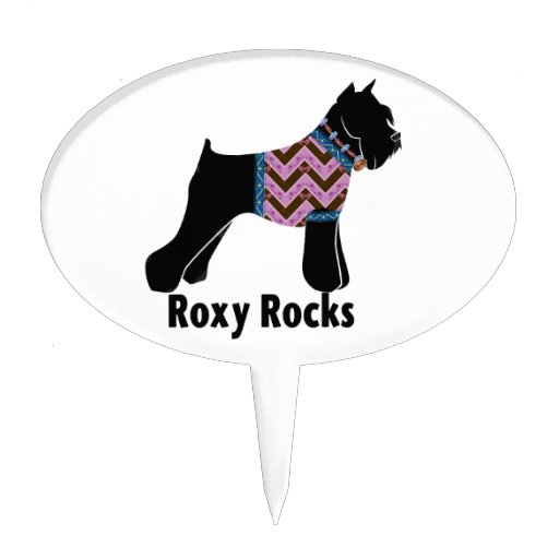 Roxy Rocks with chevron Tee shirt Cake Pick