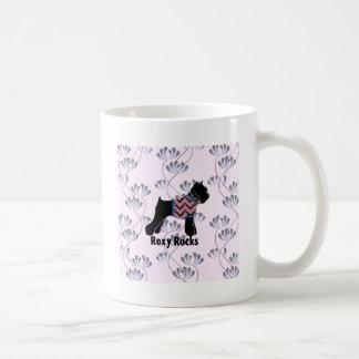 Roxy Rocks with Climbing Flowers pattern Classic White Coffee Mug