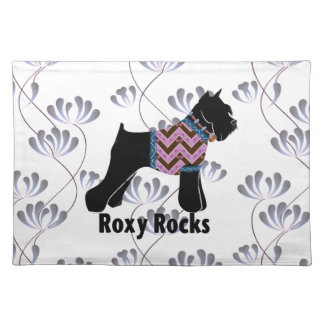 Roxy Rocks with Climbing Flowers pattern Placemats