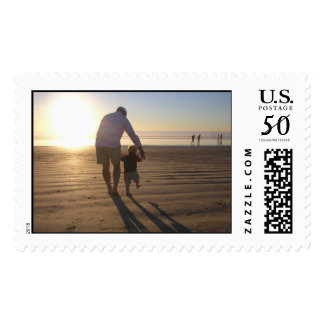 Roy and Gus walk into the sunset Postage