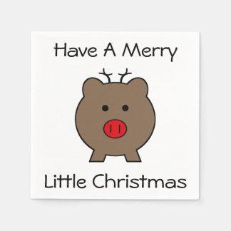 Roy el cerdo del navidad servilletas de papel