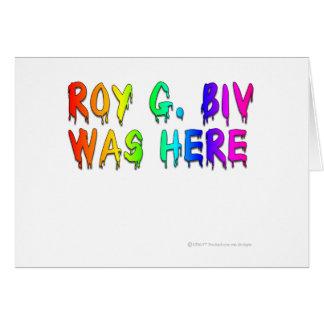 Roy G Biv Graffiti Cards
