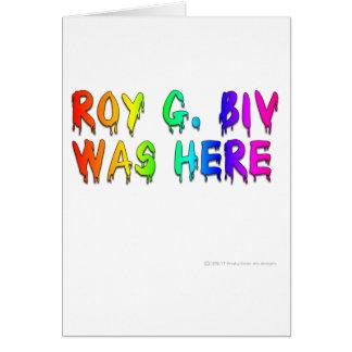 Roy G Biv Graffiti Card