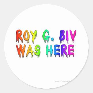 Roy G. Biv Graffiti Etiquetas Redondas