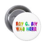 Roy G. Biv Graffiti Pinback Button