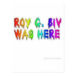 Roy G Biv Graffiti Post Cards