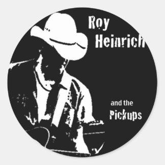 Roy Heinrich y el Pickiups Pegatina Redonda