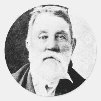 ~ Roy - juez colgante occidental de la haba Pegatina Redonda