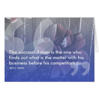 roy l smith success quote card