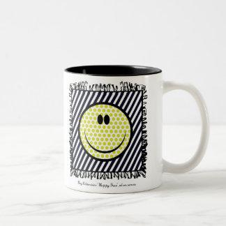 roy litchenstein happy face mug
