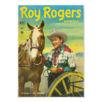 Roy Rogers Comics Invitation CARD Cowboy Western