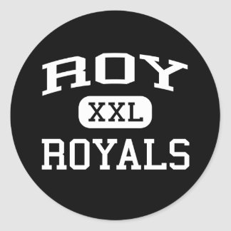 Roy - Royals - High School secundaria de Roy - Roy Etiqueta Redonda