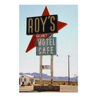 Roy s Motel Cafe Poster