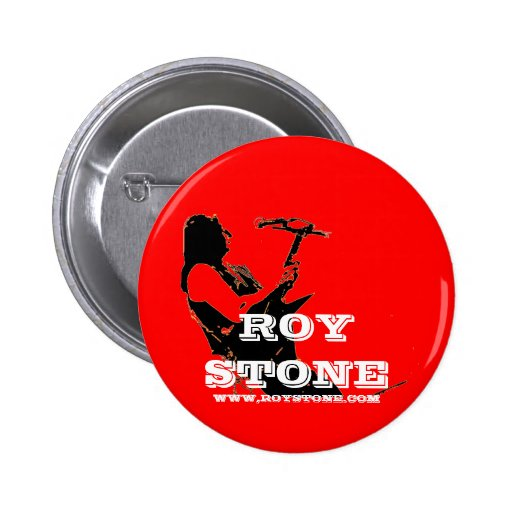 ROY STONE RED LOGO BADGE 2 INCH ROUND BUTTON