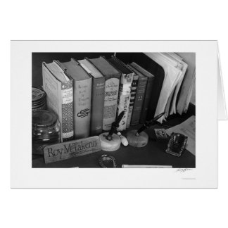 Roy Takeno's Desk 1943 Card