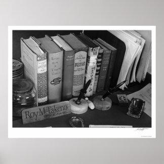 Roy Takeno's Desk 1943 Poster
