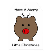 Roy the Christmas Pig Card