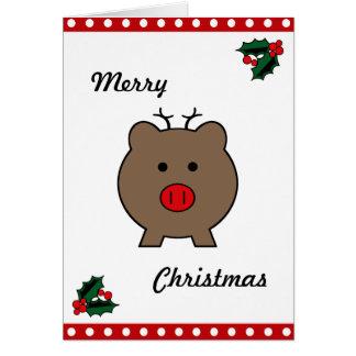 Roy the Christmas Pig Card
