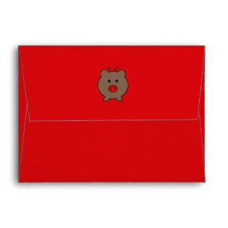 Roy the Christmas Pig ~ Funny Envelope