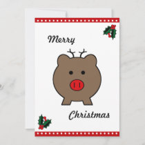 Roy the Christmas Pig Holiday Card
