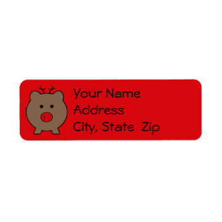 Roy the Christmas Pig Labels
