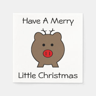 Roy The Christmas Pig Paper Napkin at Zazzle