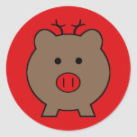Roy the Christmas Pig Sticker