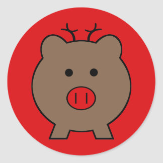 Roy the Christmas Pig Sticker